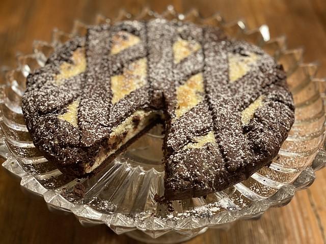 Crostata ricotta and chocolate