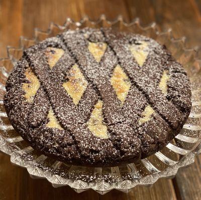 Chocolate ricotta crostata