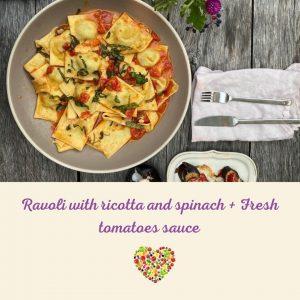 Ravioli ricotta and spinach class